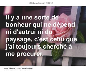 Photo de Jean Giono Citation