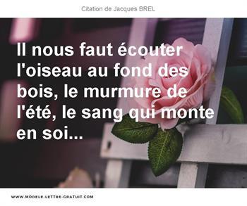 Citation de Jacques BREL